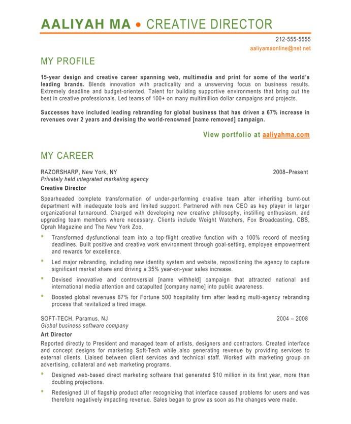creative resume objectives