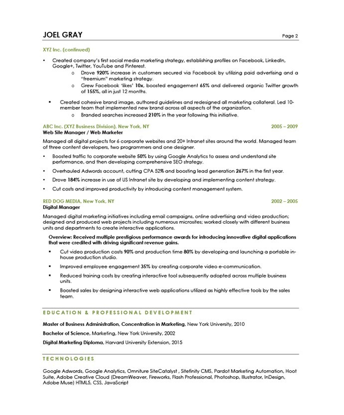 Product Manager Resume Examples Free Samples