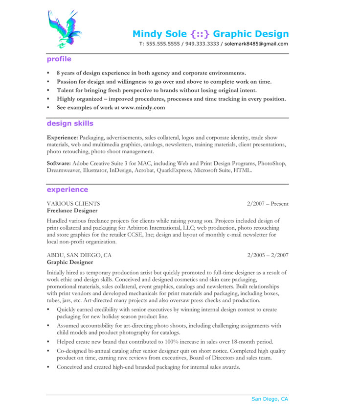 graphic design resume sample resume example graphic design graphic designer resume sample - Unique Resume Examples