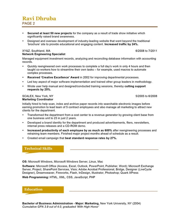 Show Me A Resume Example  Template