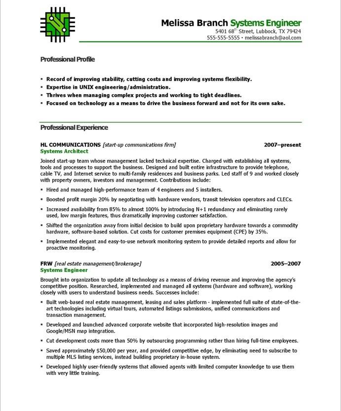 systems engineer resume sample - Linux System Engineer Sample Resume