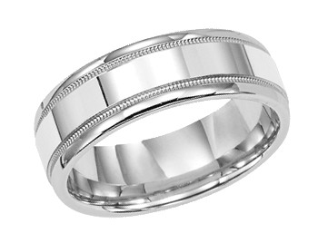 palladium mens wedding rings - Grooms Wedding Ring