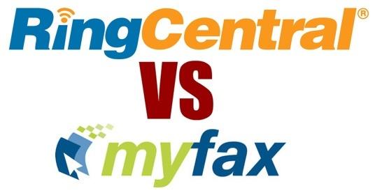ringcentral vs myfax