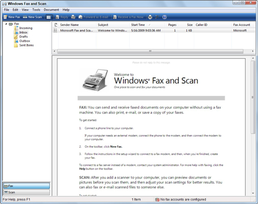 Online Faxing Using Windows 7 OS