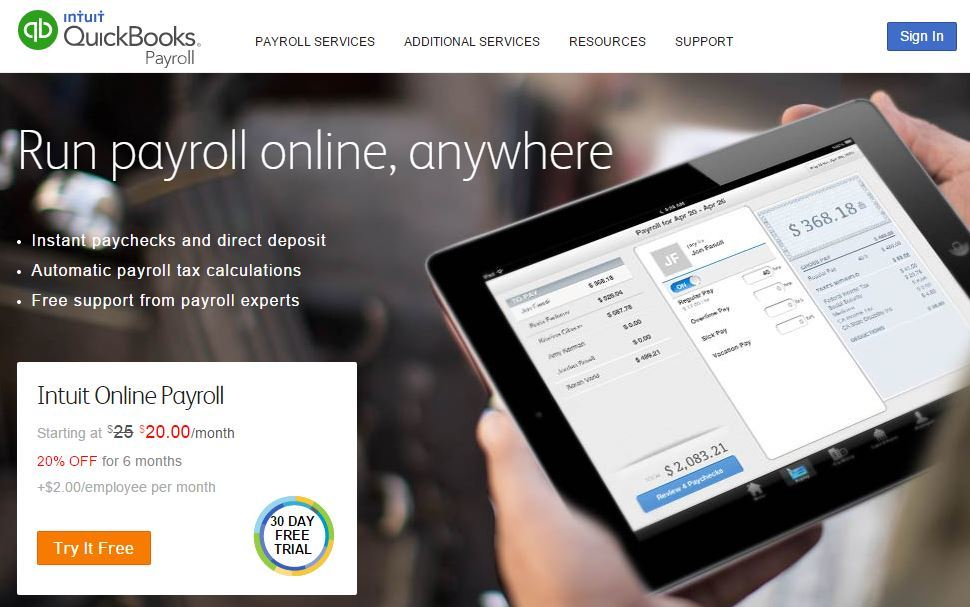 Intuit Payroll Free Trial